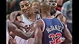 Scottie Pippen vs Xavier McDaniel - The Tension of Game 7! 1992 Playoffs