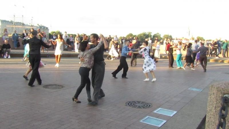 Самба Бальные танцы на Стрелке В О 02 09 2018 г вид 966