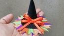 MARATÓN ESPECIAL IDEAS DE HALLOWEEN Moño sombrero de bruja idea No 7