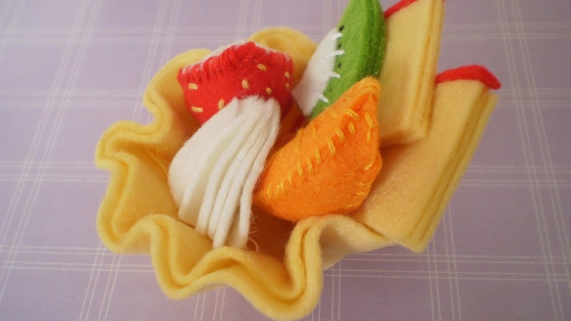 DIY Felt Fruit Tart Sewing kit