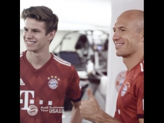 Had the great chance to talk to @arjenrobben about training and match situations