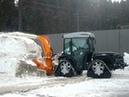 Kahlbacher Schneefräse KFS 650/1600 auf Carraro Mach 4