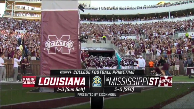 NCAAF 2018 / Week 03 / Louisiana Ragin' Cajuns - (16) Mississippi State Bulldogs / EN
