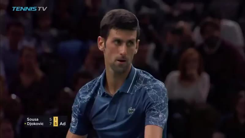 Sixth win in a row over Joao Sousa and the quest for the return to 1 continues... - - @DjokerNole tops Sousa 7-5 6-1 and moves i