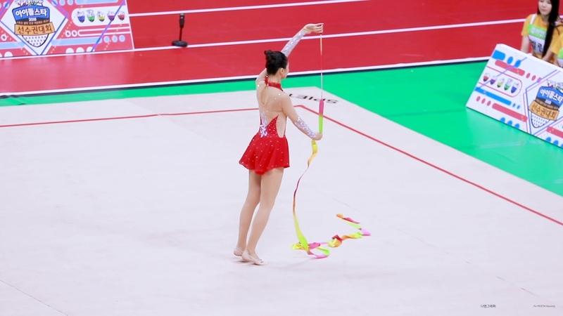180820 프리스틴 (PRISTIN) 임나영 아이돌스타 육상 선수권대회 리듬체조 직캠 Fancam