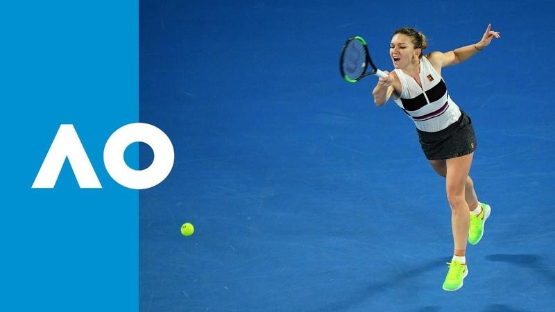Simona Halep v Sofia Kenin match highlights (2R)   Australian Open 2019