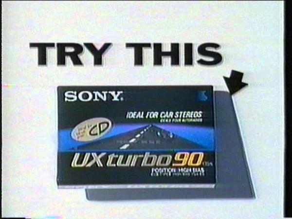 Sony UX Turbo 90 audio cassette 1991