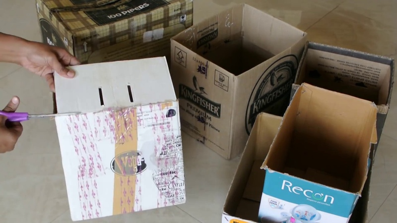 How to reuse waste boxes - DIY Shoe Rack Organizer