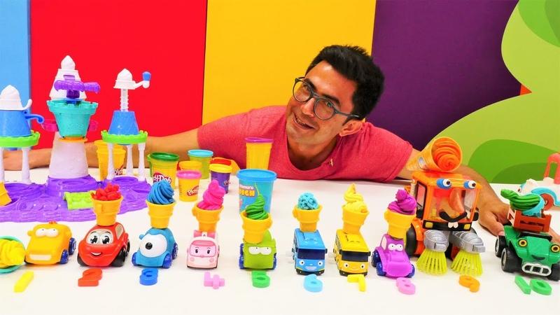 Play Doh dondurma dükkanı Nail Baba ile renkleri ve sayıları öğreniyoruz