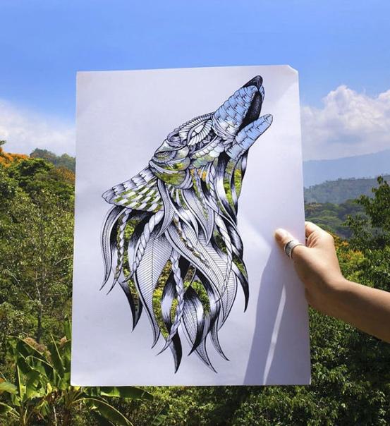 Великолепные рисунки от художницы Фэй Холлидей Визуальный художник из Великобритании работает над проектом «Haathi», что на хинди означает слон, на создание которого ее вдохновил Фестиваль