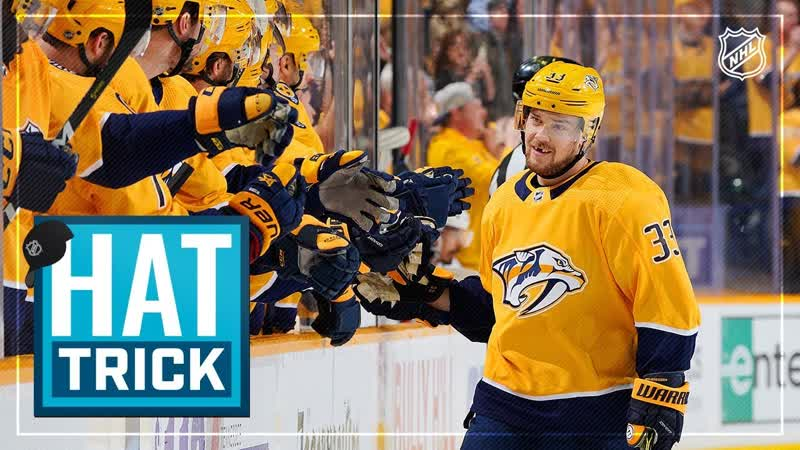 Viktor Arvidsson celebrates National Hat Day with his second career hatty!