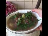Суп из сушеного мяса с фасолью