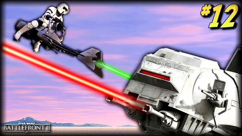 Star Wars Battlefront 2 - Funny Moments 12 (Speeder Bike Random Moments!)