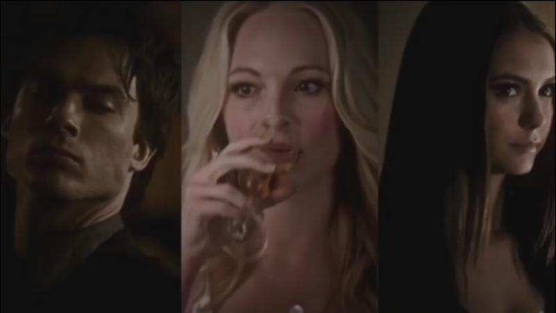 Caroline forbes, elena gilbert damon salvatore.