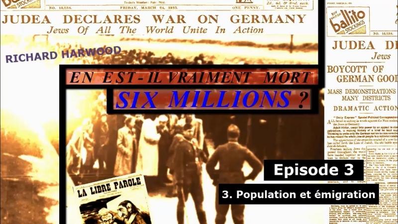 POPULATION ET ÉMIGRATION DES JUIFS