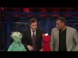 Jimmy Fallon, Laurence Fishburne, Elmo and Rosita