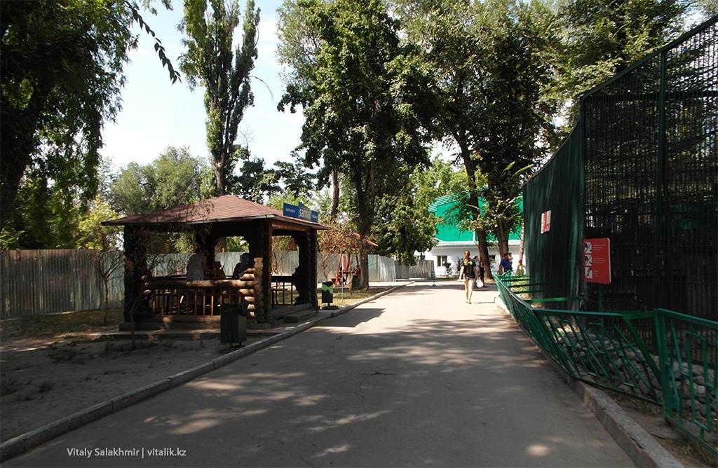 Дороги внутри зоопарка Алматы 2018