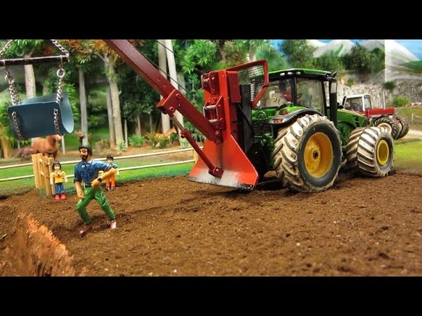 HORSE RESCUE - Rc Tractor Action with Farm Animals - rc toy fun