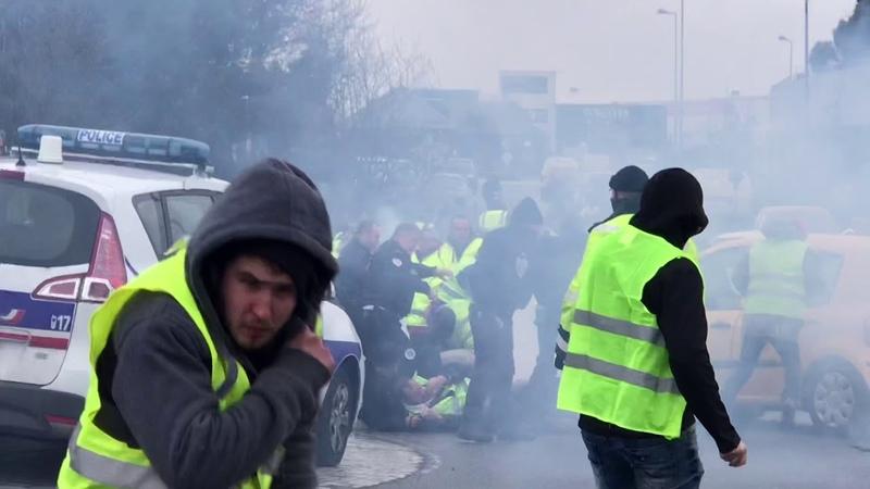 Gilets Jaunes 8 décembre 2018 Saint-Brieuc / Langueux