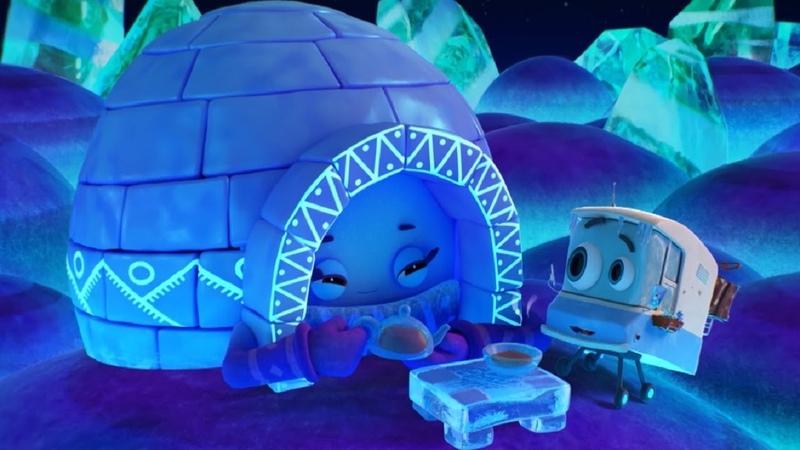 Домики - Иглу – Обучающий мультфильм для детей - мультик про зиму