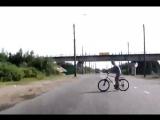 Велосипедист - камикадзе.
