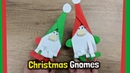 Christmas Gnomes DIY for kids easy and quick to make with just paper