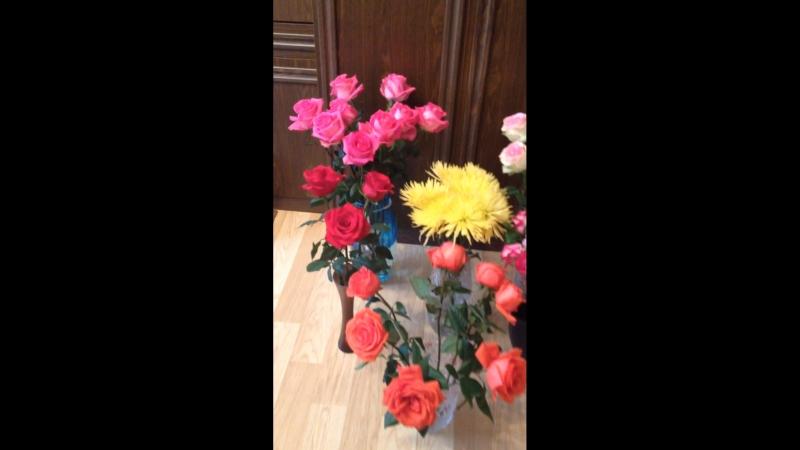 Запах цветов на всю квартиру✨ Спасибочки Вам мои дорогие 😘 я Вас люблю ❤️❓ мне30лет🎉