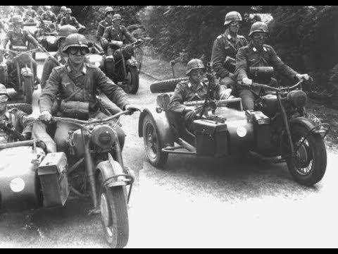 Мотоцикл с коляской один из самых живучих образов «Блицкрига». Колеса Войны. Мотоциклы Вермахта.