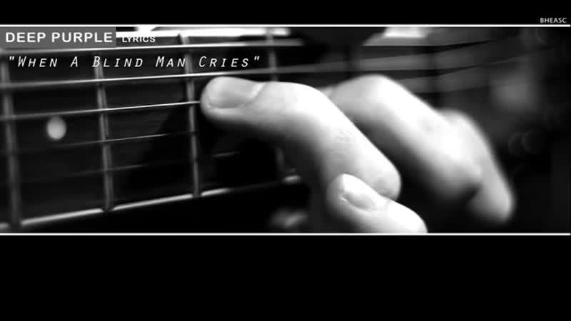 V Purple When a blind man cries Lyrics mp4