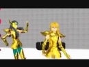 Hyoga and Camus MMD シベリア師弟で「リモコン」