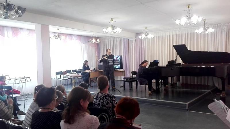 Д.А Гладких, К.Боллинг Сюита для флейты и джазового трио №2, I. Espiegle