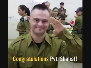 Pvt. Shahaf is a volunteer soldier in the IDF, this is his story