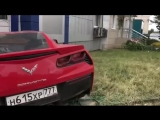 The young driver lost control of the Chevrolet Corvette
