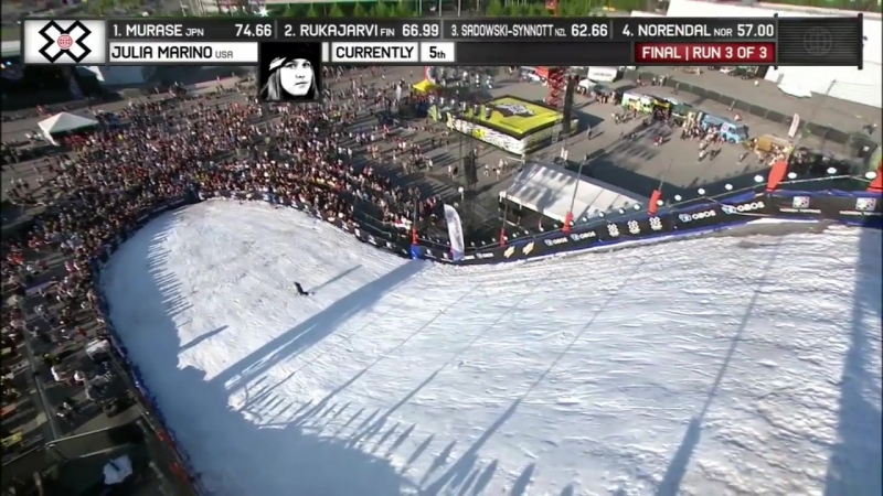 Julia Marino wins Women's Snowboard Big Air silver X Games Norway 2018