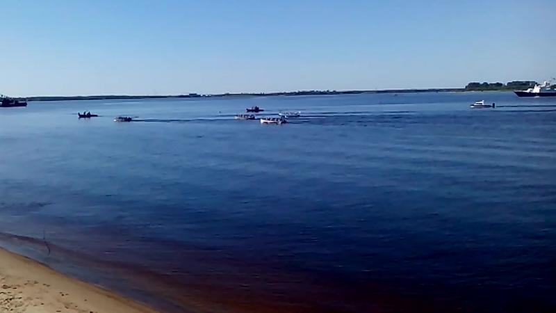 День ВМФ г Архангельск Набережная Гонка шлюпок