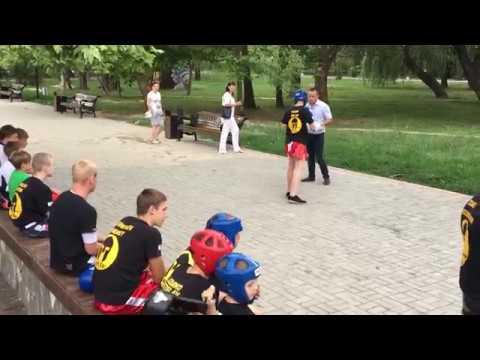 День молодежи 2018, Симферополь, кикбоксинг, работа на лапах, Лупашко и Досин