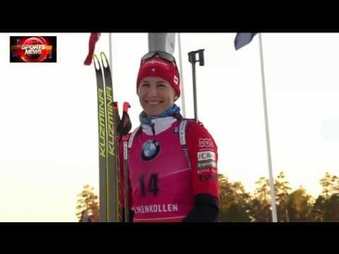 Biathlon Womens world cup Holmenkollen 2019 Sprint Post Race Ceremony Kuzmina Fialkova Preuss