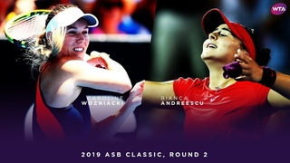 Caroline Wozniacki vs. Bianca Andreescu   2019 ASB Classic Second Round   WTA Highlights