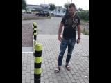 Василий Ломаченко ломает столб