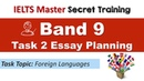 IELTS Task 2 Band 9 Essay Planning - Language