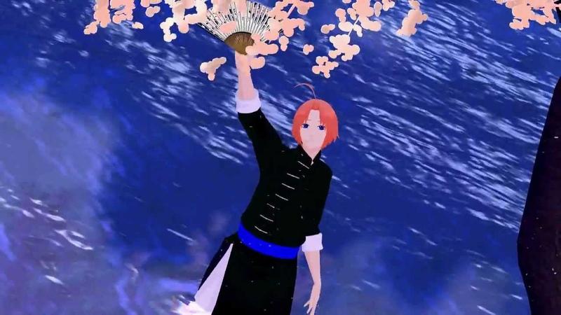 【MMD銀魂】神威が「夢と葉桜」を舞った