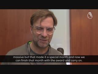 December was an emotional rollercoaster for Manager of the Month winner Jurgen Klopp