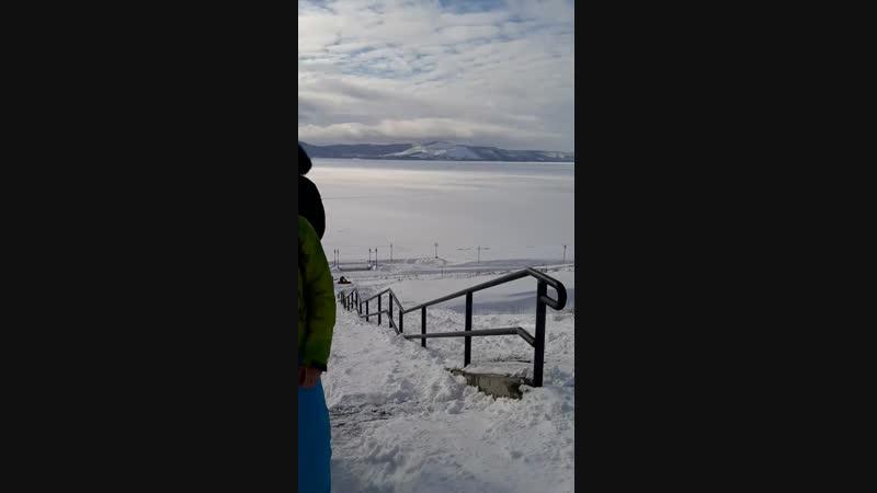 Артём Анисимов, Наталья Козловская уборка от снега спуска на набережную Комсы