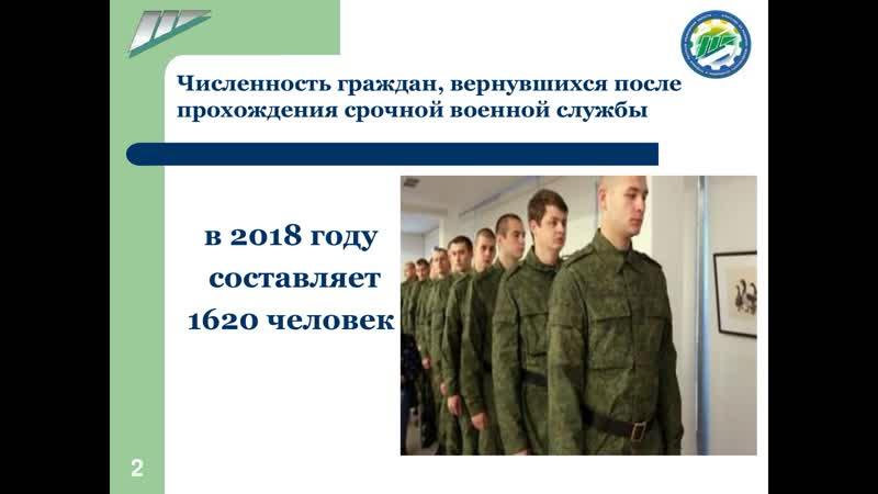Организация занятости граждан, вернувшихся в Ульяновскую область, после прохождения срочной службы
