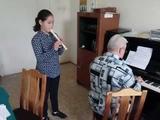 Дуэт блокфлейты (Сафина) и фортепиано ( Николай Николаевич Ерисов)