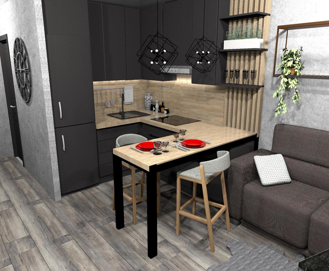 Кухня-гостиная 18 кв/м.
