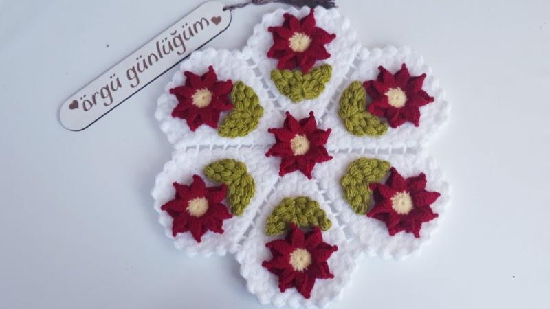 çarkıfelek çiçekli lif modeli yapımı