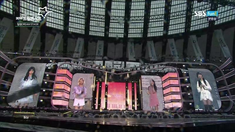 180519 Dream Concert   Whee In (MAMAMOO), SEULGI (Red Velvet), EUNHA (GFRIEND) with YounHa - Password 486