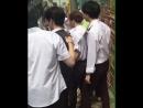 """[FANCAM] 180823 GOT7 на съёмках второго сезона шоу """"Hard Carry"""" в Гонконге."""
