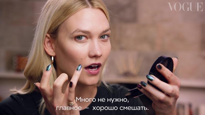 Лимфодренажный массаж, помада вместо румян и другие секреты «пляжного» макияжа Карли Клосс
